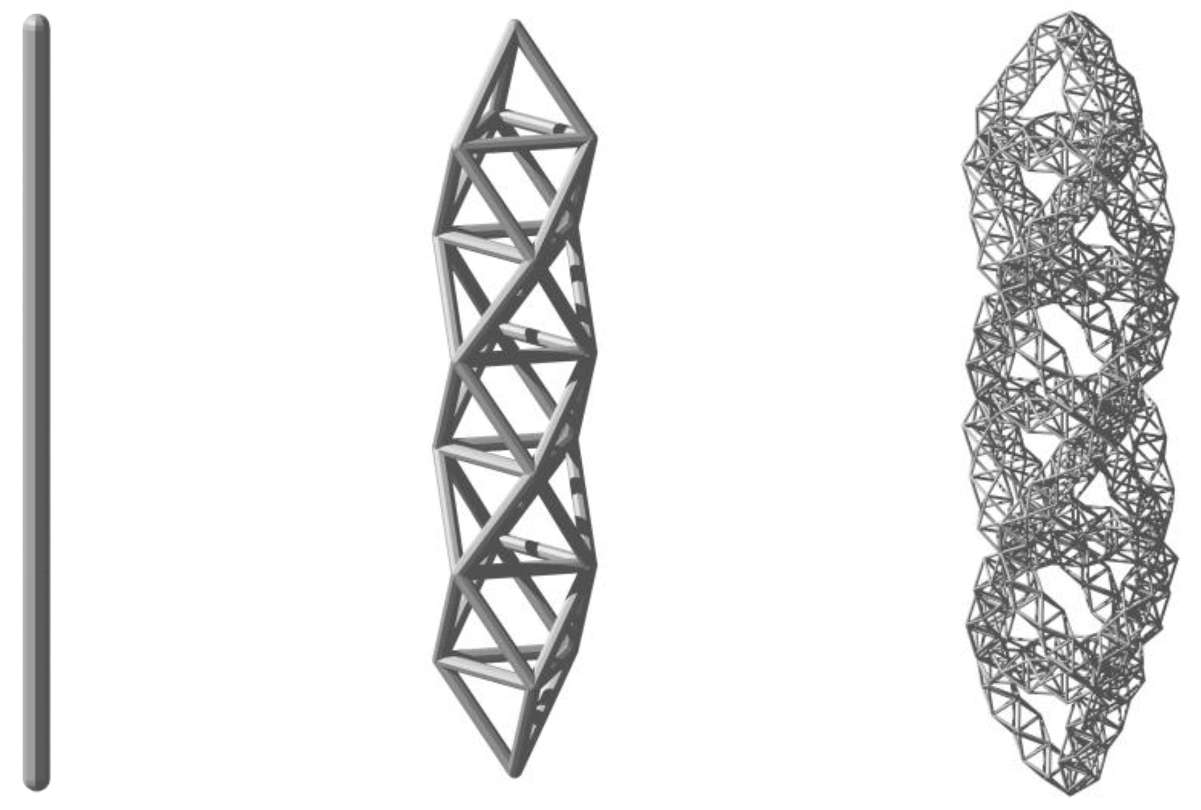 We show that self-similar fractal structures exhibit new strength-to-mass scaling relations, offering unprecedented mechanical efficiency.