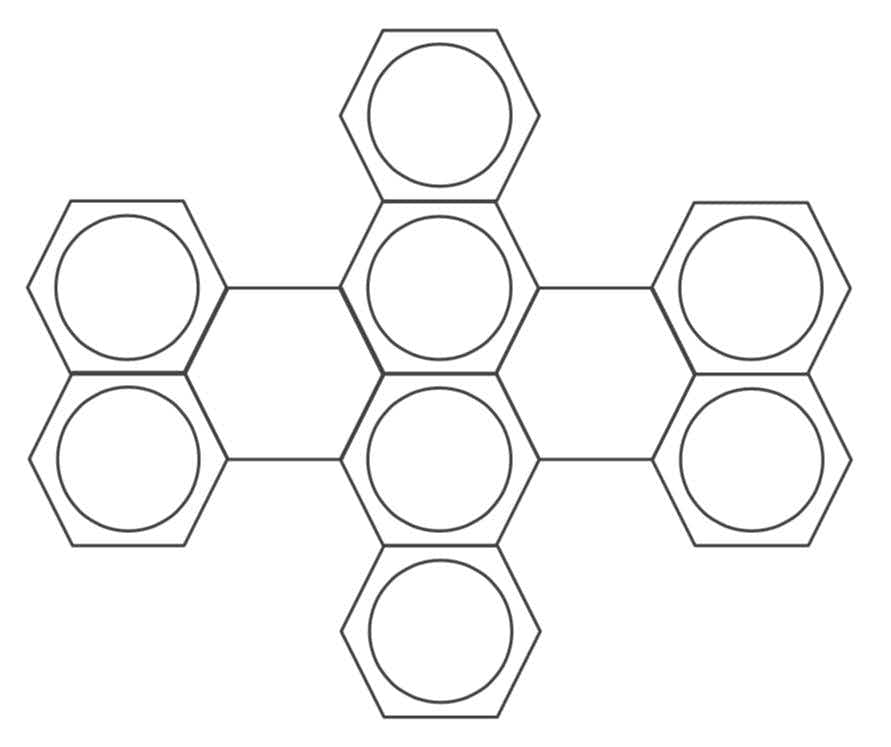 Dibenzoletrrylene structure consists of corrugated planar assemblies of aromatic hydrocarbons
